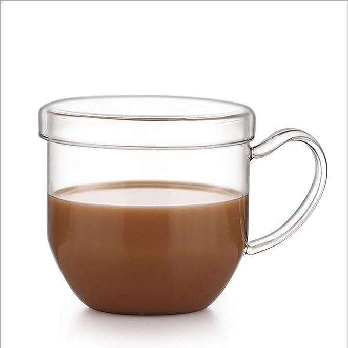 Love Home Taza de té de Vidrio Transparente calentable con Tapa ...