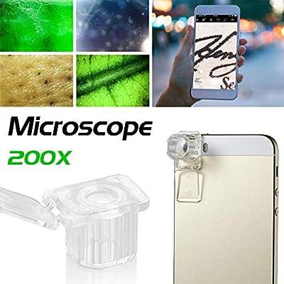 Motto.h - Microscopio portátil para Smartphone, 200 aumentos, para ...