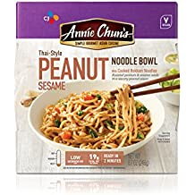 Annie Chun's Peanut Sesame Noodle Bowl, Vegan, 8.7 Ounce (Pack of 6), Thai-Style