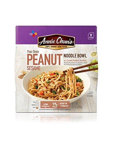 Peanut Sesame Noodle Bowl (Annie Chun's Peanut Sesame Noodle Bowl, Vegan, 8.7 Ounce (Pack of 6), Thai-Style)