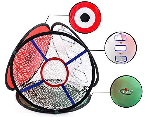 Galileo Golf Driving Net Indoor Use Outdoor Chipping Hitting Practice 4in1 Pop Up Golfing Collapsible Net Accessories Golf Outdoor Game by Galileo Thought