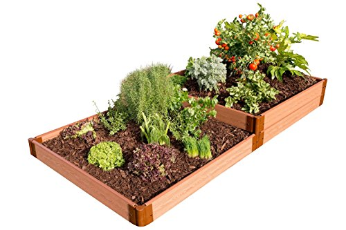 Frame It All Tool-Free Classic Sienna Raised Garden Bed Terraced 4' x 8' x 11