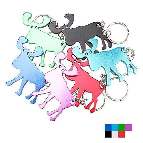 Beer Key Chain Bottle - Swatom Moose Keychain Bottle Opener Beer Opener Tool Key Tag Chain Ring Accessories