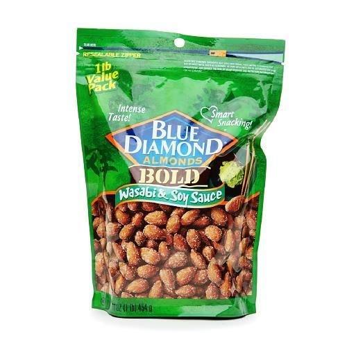 Blue Diamond Bold Almonds, Wasabi and Soy Sauce, 1 Lb ()