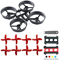 Crazepony Tiny Whoop Quadcopter Frame Blade Inductrix Eachine E010 with 4pcs Propellers Red