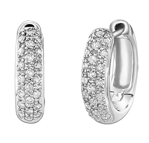 14K Diamond Earrings In-Out Hu