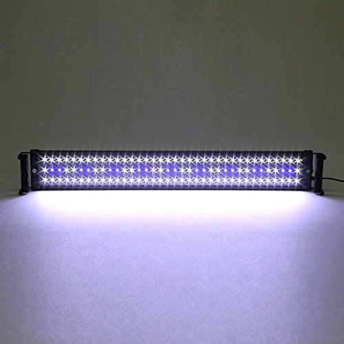 (Deckey 18W Aquarium Fish Tank Extendable Light LED Blue and White Color Changing Frame Fish Lamp 108 LED(75CM))
