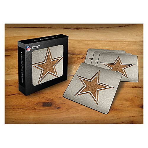 - NFL Dallas Cowboys 4-piece Boaster Drink Coaster
