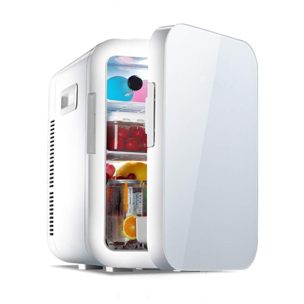 多機能ミニカー冷蔵庫、家庭用冷蔵庫、20リットル小型大容量/低騒音/省エネ、 冷却および暖房はできます Single core white B07RS19CK1