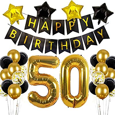 50th Birthday Decorations For Women 50 Birthday Balloons 50 Year Birthday Party Balloon For 50th Birthday Decoration Men 50th Birthday Balloons For 50 Birthday Women Party Amazon Sg Toys Games