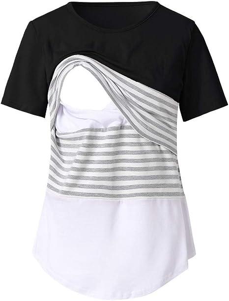 White Maternity Nursing Bra Black Pajama NightGown Breastfeeding S M L X