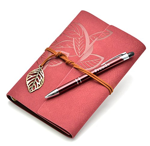Lined Writing Journals Notebook (Value Pack) Refillable Leather Women's Notebook Journals, A6(7×5inch) Travel Diary, Best Gift for Teens Girls and Boys (Wine red,Lined Journals) by FREUDE
