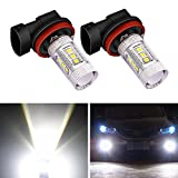 DunGu H11 H8 H9 LED Fog Light Bulb Canbus Super Bright 700 Lumens 80W High Power Xenon White (Pack of 2) …