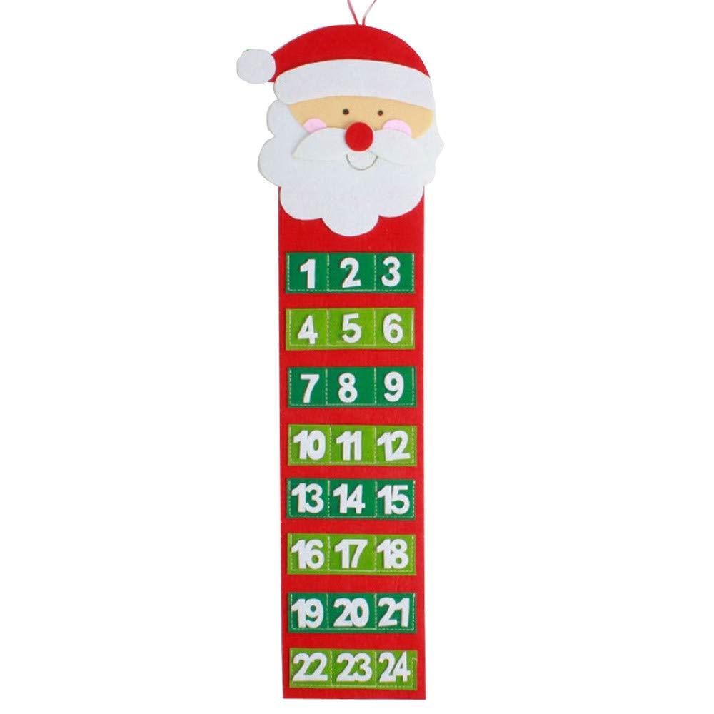 Yliquor クリスマス ヘアー サンタクロース スノーマン カウントダウン カレンダー ウォールカレンダー ホームデコレーション お祭り 雰囲気 B07J25PL5F  A