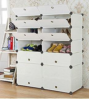 UNICOO   Multi Use DIY Plastic 10 Cube Shoe Rack ,Organizer, Bookcase, Shoes