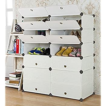 Attirant UNICOO   Multi Use DIY Plastic 10 Cube Shoe Rack ,Organizer, Bookcase, Shoes