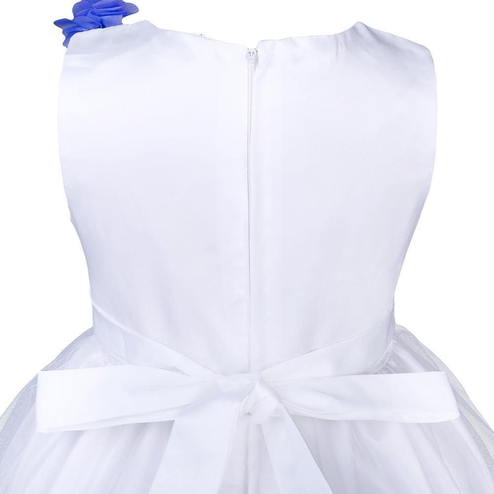 IBTOM CASTLE Flower Girl Pageant Dress Princess Wedding Party Evening Short Gowns