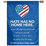YERZ Hate Has No Home Here Blue Garden Flag Banner For House Yard Decoration Black 27 X 37 Inch Blue