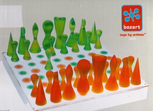 Karim Rashid Orange & Green Chess Set by bozart