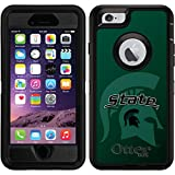 OtterBox Apple iPhone 6/6s Black Defender Case with Michigan State Watermark 2, Full-Color Design