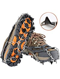 Traction Cleats Ice Snow Grips Crampons Micro Spikes Shoe Boots, Safe Outdoor Walking Hiking …