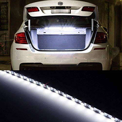 - iJDMTOY 18-SMD-5050 LED Strip Light For Car Trunk Cargo Area or Interior Illumination, Xenon White