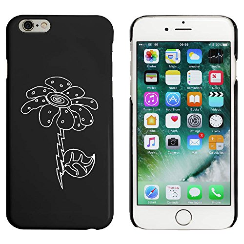 Schwarz 'Schrulliges Gänseblümchen' Hülle für iPhone 6 u. 6s (MC00020745)