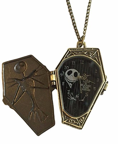 Nightmare Before Christmas Coffin Pendant Pocket Watch