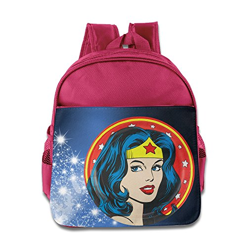 [D2 Cute Wonder Female Backpack For 3-6 Years Old Toddler Kids Pink Size One Size] (Tim Drake Costume)