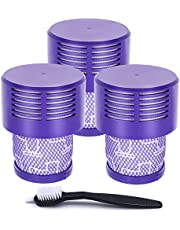 UPGRADED VERSION 3 PACK HEPA Replacement V10 Filters Compatible with Dyson V10 Cyclone series, V10 Absolute, V10 Animal, V10 Total Clean, V10 Motorhead, SV12, Part No. 969082-01, Washable and Reusable