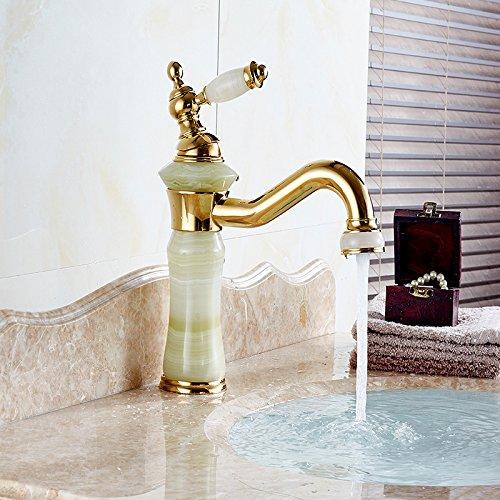 Fbict Basin Faucet European Copper Basin Faucet hot and Cold Antique gold washbasin washbasin Faucet, gold for Kitchen Bathroom Faucet Bid Tap