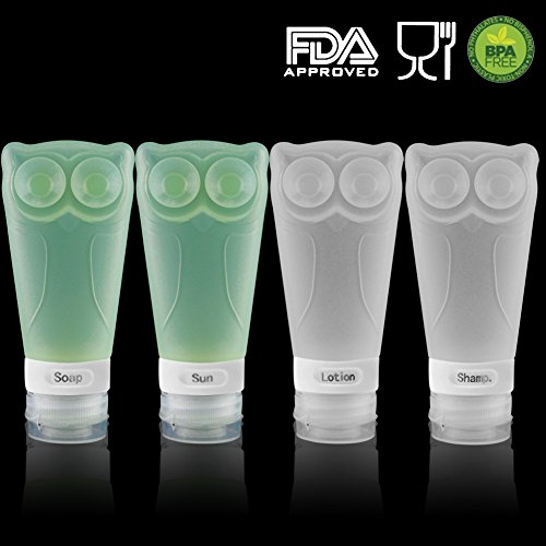 Owl Silicone Travel Bottles Set product image