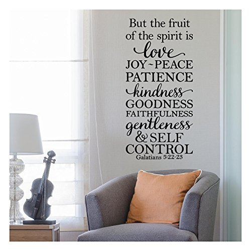 Love Is Patience (But the Fruit of the Spirit is Love, Joy, Peace, Patience, Kindness, Goodness, Faithfulness...Galatians 5:22-23 Vinyl Lettering Wall Decal Sticker (34