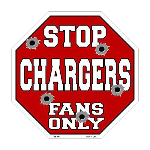 Smart Blonde Chargers Fans Only Metal Novelty Octagon Stop Sign BS-188