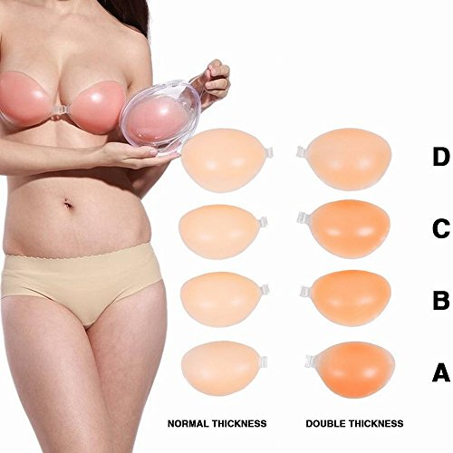 Tidetell Self Adhesive Silicone Bra Strapless Reusable Invisible Push-up Bra (FBA)