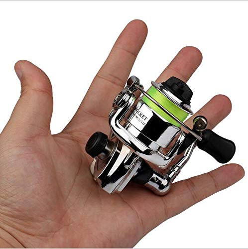 LLCOFFGA Fishing Reel 2+1BB Metal Bearing Foldable Handle Light and Smooth Spinning Reels for Saltwater and Freshwater Fishing