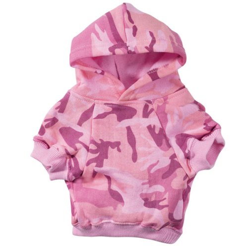Casual Canine Cotton Camo Dog Hoodie, Medium, Pink, My Pet Supplies