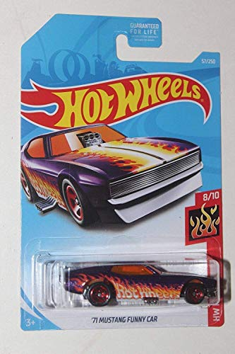 Hot Wheels 2019 Basic Mainline Hw Flames - '71 Mustang Funny Car