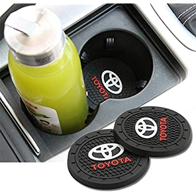 JDopption Car Logo Cup Holder Coaster Insert Cup Mat for Toyota Accessories Silicone (Toyota): Automotive