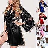 Redbrowm Women'S Lingerie,2018 New Long Satin Lace Side Pajamas Underwear