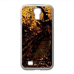 Yellow Forest Watercolor style Cover Samsung Galaxy S4 I9500 Case (Autumn Watercolor style Cover Samsung Galaxy S4 I9500 Case)