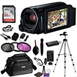 Canon VIXIA HF R800 Camcorder (Black) Video Professional Bundle with Sandisk 32 GB SD Memory Card + Filters + Canon Case + Accessory Bundle