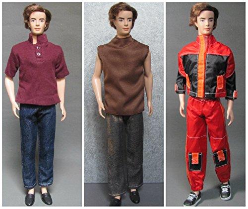 HelloJoy Lot 3 Fashion Casual Wear Clothes/outfit for Barbie's Boy Friend Ken Doll -