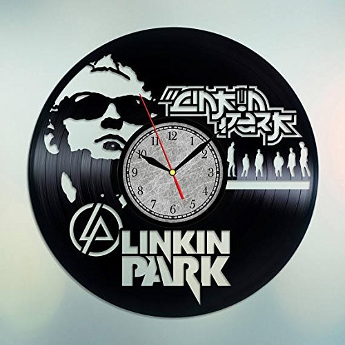 Clock Bennington (Handmade Vinyl Wall Clock Linkin Park Vinyl Record Wall Clock Linkin Park Wall Clock Rock Band Clock Chester Bennington Linkin Park Wall Decor Linkin Park Wall Art)