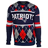 New England Patriots Exclusive NFL Argyle Sweater Medium