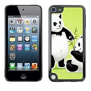 - Panda Cute Bear Animal - - Monedero pared Design Premium cuero del tir¨®n magn¨¦tico delgado del caso de la cubierta pata de ca FOR Apple iPod Touch 5TH GEN Funny House