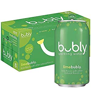 bubly Sparkling Water, Lime, 12 fl oz Cans (Pack of 8)