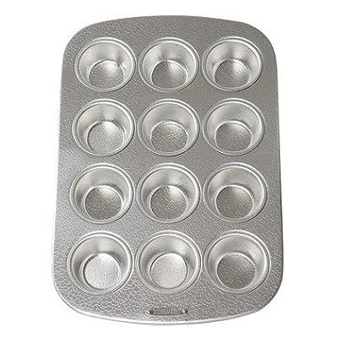 Doughmakers 10936 12 Cup Muffin Pan, Metallic