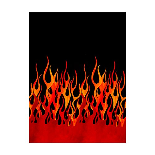 Michael Miller Fabrics Flames Single Border Black ()