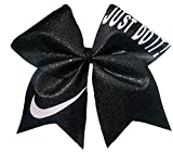 Cheer bows black Sparkly Just Do It Nike Hair Bow